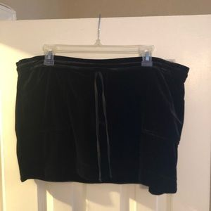 BCBG velour mini skirt